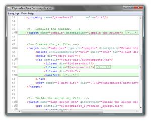 XML Code Folding