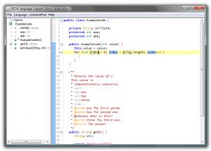 Editing parameters
