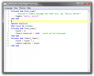 Visual Basic Highlighting