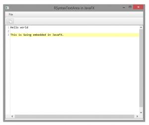 RSTA in JavaFX