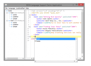 XML Element Completion